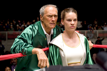 Clint Eastwood y Hillary Swank en Million Dollar Baby