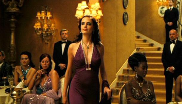 Eva Green Casino Royale Purple Dress Eva Green Casino Royal...